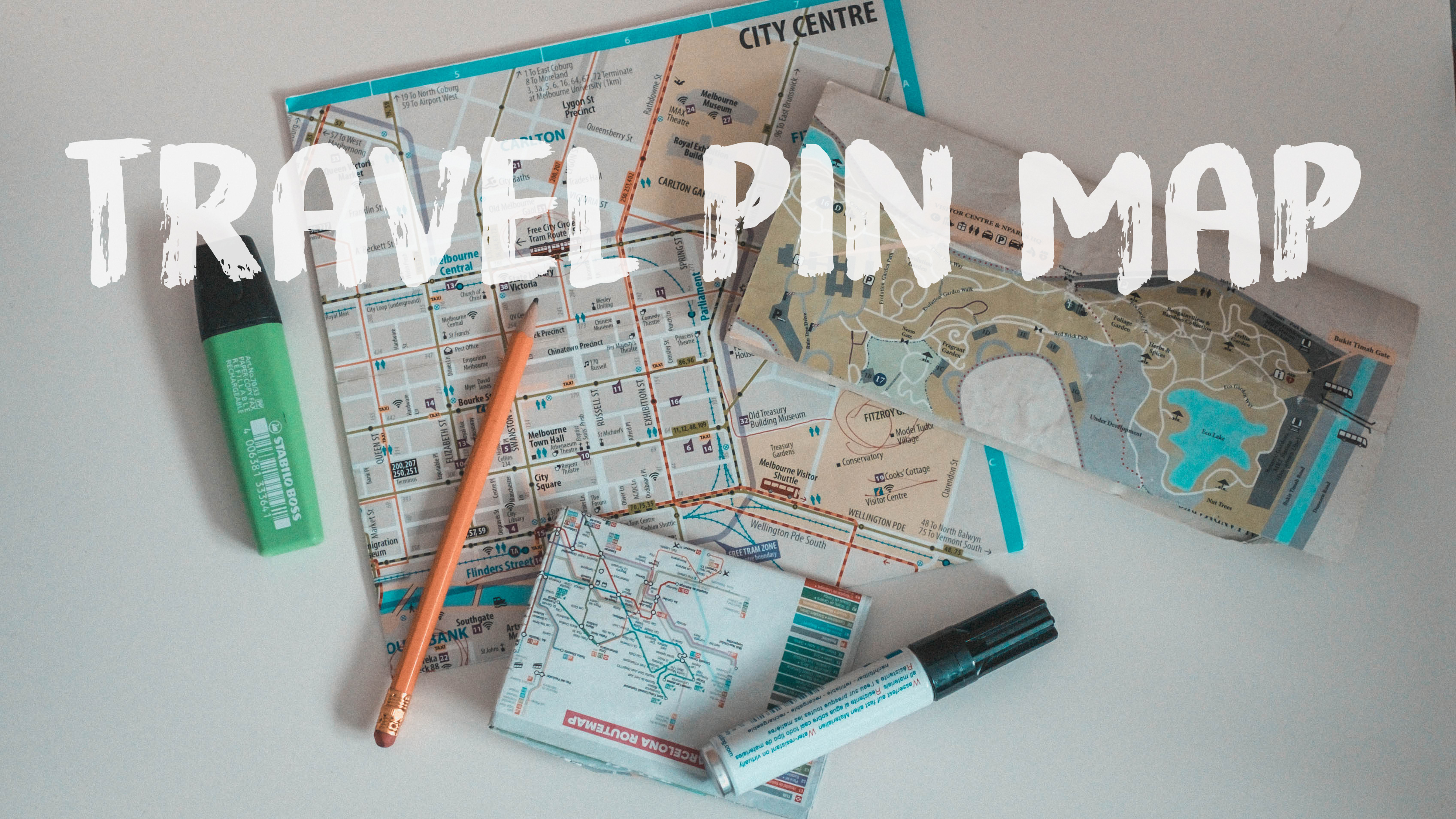travel pin map