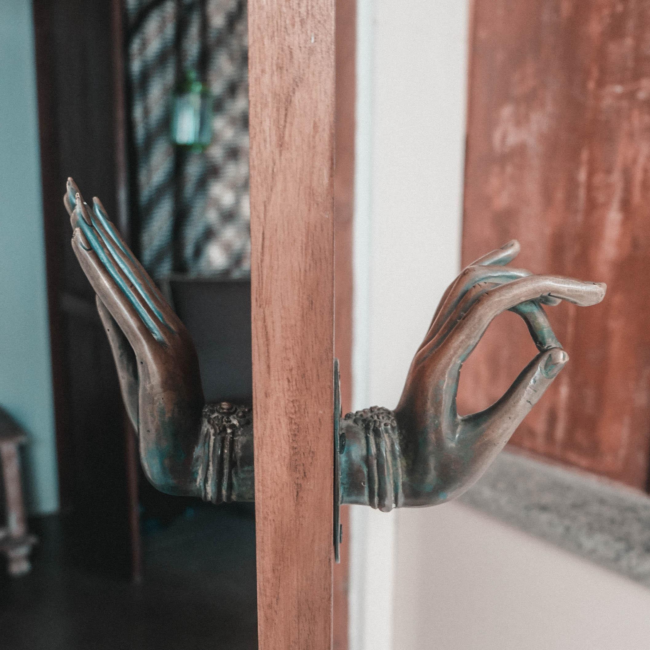 buddha doorknob